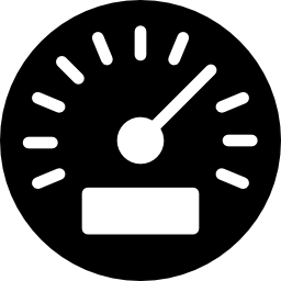 Icon of a speedometer representing the unmatched speed at which Always A Way Auto Finance can navigate the credit application process.